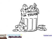 Kontainer Rusak, Masyarakat Buang Sampah di Pembatas Jalan