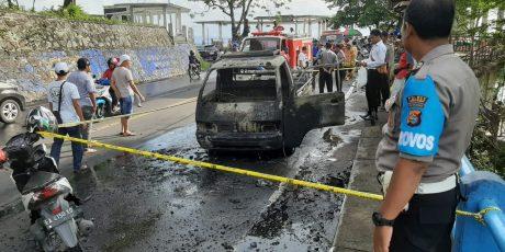 Kendaraan Pickup Pengangkut BBM Terbakar, Ini Penyebabnya