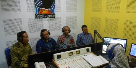 Bupati Sumbawa, Dompu dan Ketua BPK Kunjungi ''Suara NTB'' dan Radio Global