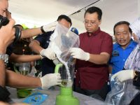 Gubernur dan Kepala BNN NTB Musnahkan BB Narkoba Senilai 4 Miliar