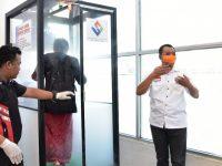 Mantap, Bilik Disinfektan Sudah Mulai Terpasang di Sejumlah Fasilitas Publik