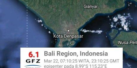Gempabumi Guncang Bali dan NTB, Warga Berhamburan Keluar Rumah