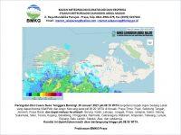 Tiga Hari Kedepan, Waspadai Potensi Hujan Lebat dan Angin Kencang