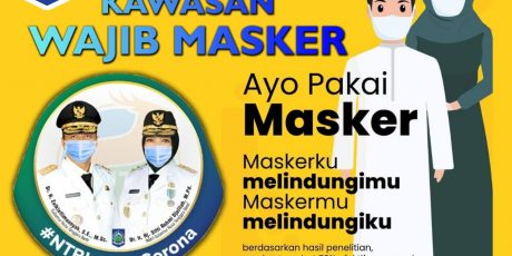 Gubernur NTB Keluarkan Instruksi Wajibkan Penggunaan Masker