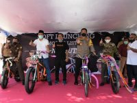 """Ini Wujud """"NgebUTS"""", Sepeda Motor Listrik Asli Buatan NTB yang Baru Diluncurkan"""