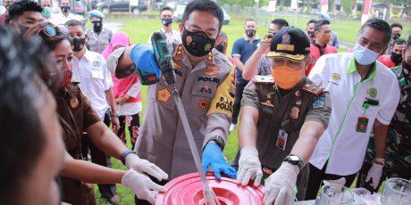 Polda Musnahkan 12 Kg Sabu, 15 Kg Ganja dan 8.000 Botol Miras Hasil Operasi