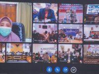 Bahas Bantuan Sembako untuk Masyarakat, Gubernur Rapat Virtual dengan Seluruh Bupati dan Walikota