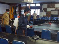 Kantor Gubernur NTB Mulai Disemprot Disinfektan