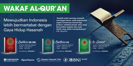 BNI Syariah Tawarkan Program Wakaf Al-Qur'an